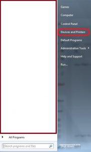 تنظیمات پرینتر در ویندوز